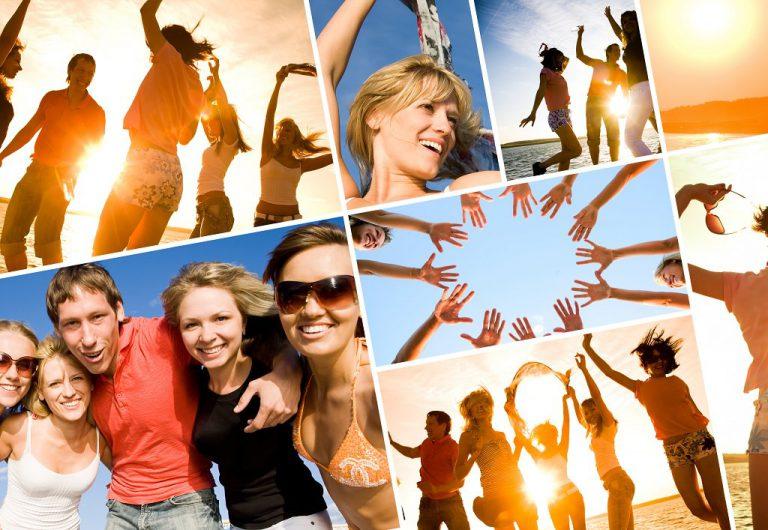 Sommerparty feiern